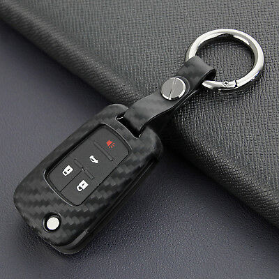 Scratch Proof Carbon Fiber Car Key Case For Chevrolet Malibu Cruze Camaro Trax