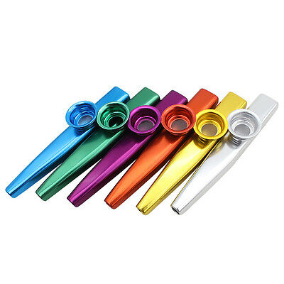 1X Kazoo Metal with Flute Diaphragm Gift for Kids Music Lovers 6 Colors LH