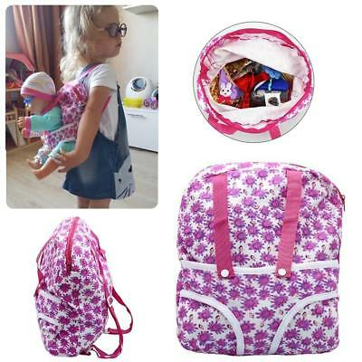 "Kid Backpack & Doll Carrier Bag For 18"" American Girl & 43cm Baby Born Zapf Doll"