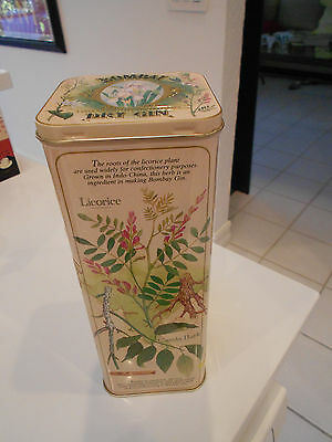 "Bombay Dry Gin-Tall Tin-Hinged Top-Vg+   Condition-9 1/4"" Tall"