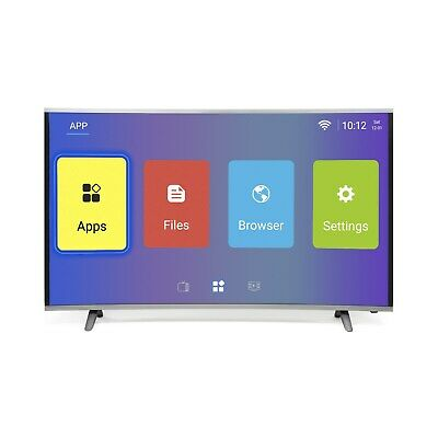 electriQ 55 Inch Curved Android Smart HDR 4K Ultra HD LED TV Freeview HD 3 HDMI