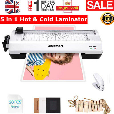 4 in 1 Blusmart Thermal Laminator Machine A4 Roller Paper Trimmer Fast Home