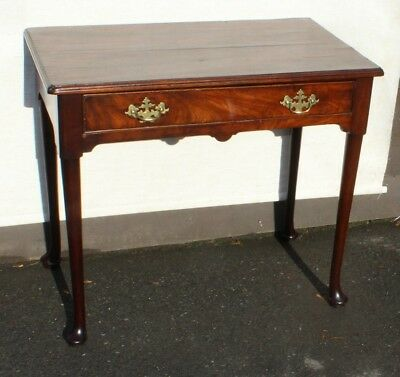 1920's Neat Mahogany SideTable with Drawer. Good Handles.Pad Feet.
