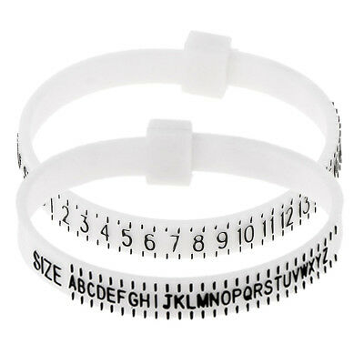 Plastic Finger Ring Band Gauge Sizer Jewelry Ring Size Measure Jewelers Tool