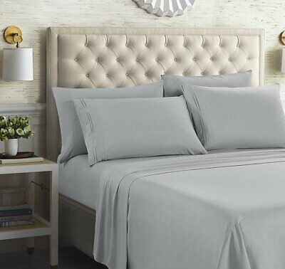 """Persian Collection 1900 Count Fitted Sheet 14"""" Deep Pocket Fully Elastic Sheets"""