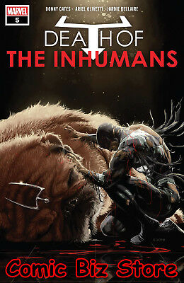 Death Of Inhumans #5 (Of 5) (2018) 1St Printing Andrews Main Cover Marvel Comics