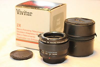 Vivitar 2x macro focusing teleconverter for Nikon AI Or Olympus U CHOOSE