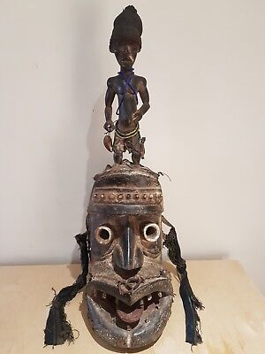 Dan Kran African wood mask. Old and used example.