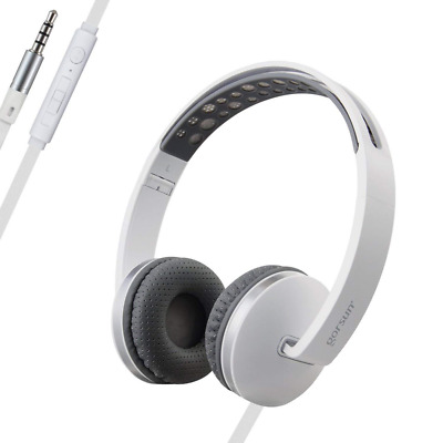 Sport Lightweight Foldable On-Ear Adjustable Headphones with Mic Volume Control
