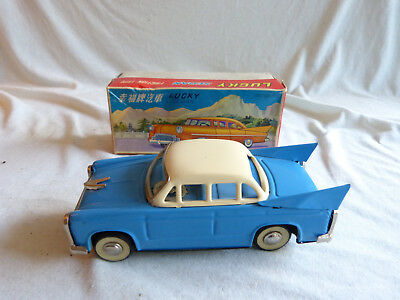 Red China MF 083 Lucky Sedan Friction Blech Spielzeug Tin Toy 70er Jahre Ovp