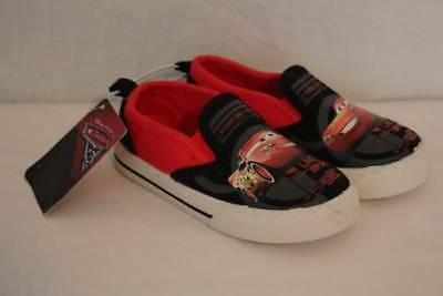 NEW Toddler Boys Loafers Size 10 Disney Cars McQueen Red Slip On Canvas Shoes