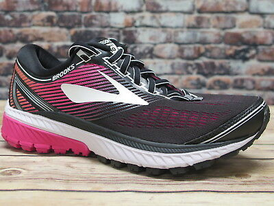 Brooks Women's Ghost 10 Black/Pink Peacock/Living Coral Running