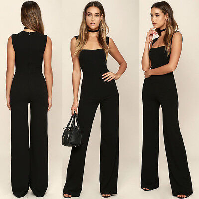 Sexy Women Sleeveless Bodycon Jumpsuit Ladies Evening Party Romper Trousers S5X4
