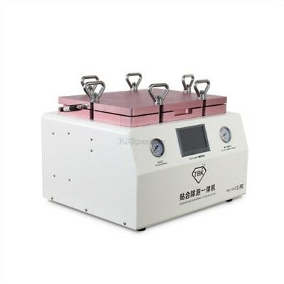 """15"""" Laminating And Debubble Oca Machine With Pump 220V New 2 In 1 Lcd Touch pu"""