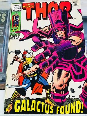 The Mighty Thor Vol. 1 No. 168 (1969) Featuring Kirby art! Best Buy 🔥