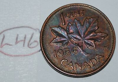 Canada 1956 1 Cent Copper One Canadian Penny Coin Lot #L46