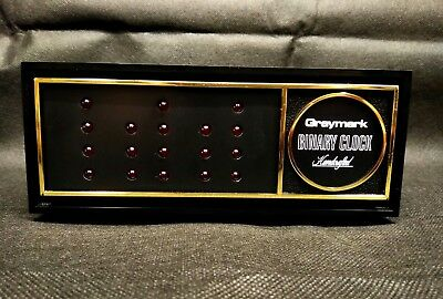 Vintage Graymark Binary Clock Handcrafted - Tested and Works!