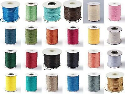 Waxed Cotton Polyester Cord 1mm x 10 Metres BUY 4 GET 1 FREE