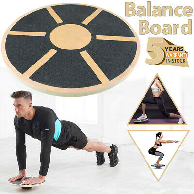 Professional Balance Board Wooden Fitness Wobble Yoga Pilate Support Gym Trainer
