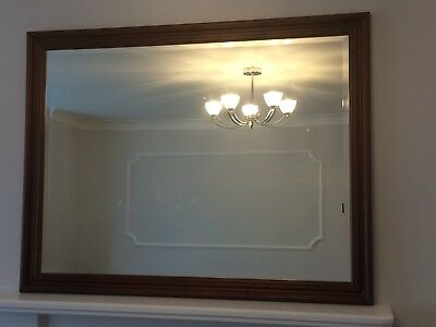 Large Over Mantle Fireplace Wall Mirror approx 34.5 inch by 44.5 inch