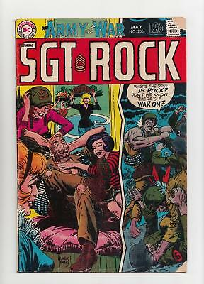 Our Army at War #206 Sgt. Rock (DC 1969) GD/VG 3.0