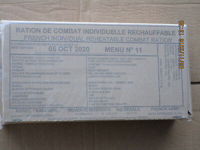 French Ration, RCIR,24 Hour Combat Einsatzration,MRE,EPA, Menu No. 11