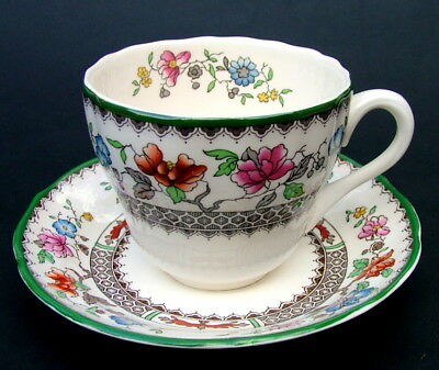 Vintage Copeland Spode Chinese Rose Pattern 200ml Tea Cups & Saucers Look in VGC