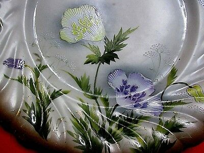 Antique Hand Painted Asian Plate Bat Wing Signed Old Porcelain Gold China Japan