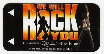 BALLYS casino*QUEEN MUSICAL we will rock you* LAS VEGAS NV hotel key card #119