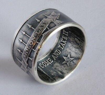 "d318b12f881d MOLON LABE    ""COME AND Take It"" .999 Silver Coin Ring -  54.95 ..."
