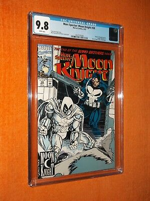 "MARC SPECTOR:  MOON KNIGHT #38 CGC 9.8 {Randall Spector ""death""} {Punisher app.}"
