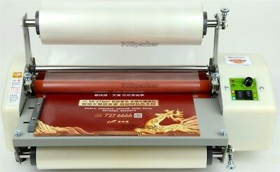 """Four Rollers Roll Laminating Machine Hot And Cold 13"""" ip"""
