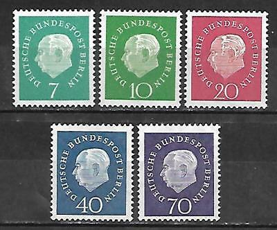 Germany Stamps #793-797 Set Of 5 (Nh) From 1959