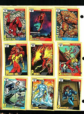 1991 Impel Marvel Universe Series 2 Set of 162 Cards Excellent ++to Near Mint