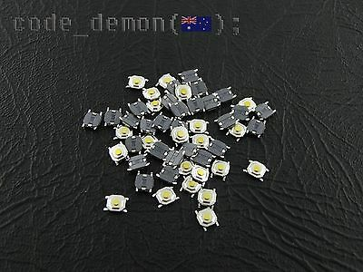 SMD Tactile Momentary Push Button Micro Switch (x20) - 5.2mm x 5.2mm x 1.5mm