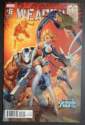Marvel Weapon H #6 Fantastic Four Variant Cover J. Scott Campbell