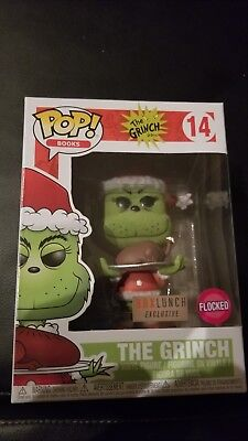 Funko Pop #14 Flocked Grinch Box Lunch Exclusive BoxLunch Free Shipping Roast