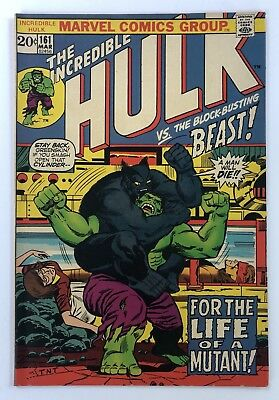 Incredible Hulk #161 - Classic Fight with Beast and Death of Mimic - CENTS COPY