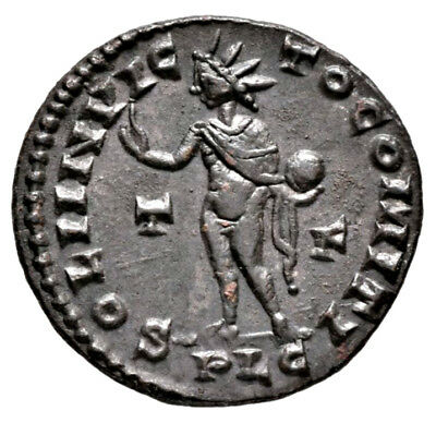 CONSTANTINE THE GREAT (314 AD) AE Follis, Lyons Sol #MA 693