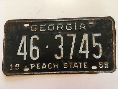 1959 Georgia License Plate County 46 Jackson YOM Ford Fairlane Chevy Impala Olds