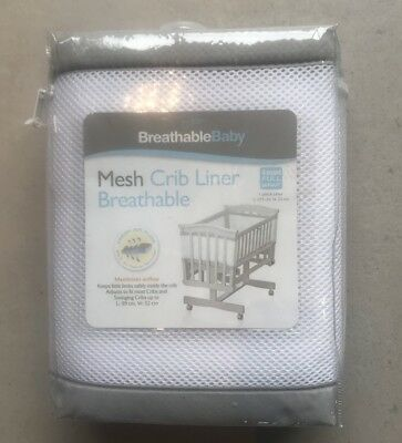 BreathableBaby Breathable 1 Piece Mesh Crib Liner L:275cm H:22cm
