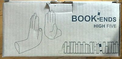 Barnes and Noble High Five Black Hand Bookends New in Box