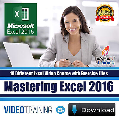 Mastering Microsoft Excel 2016 Video Training 18 Course of Bundle Pack DOWNLOAD