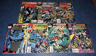 TRANSFORMERS GENERATION 2 #1 2 3 4 5 6 7 1st print set MARVEL COMIC 1993 NM- G1
