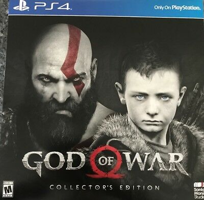 God of War Collector's Edition Playstation 4 New And Sealed! Global Ship!!!