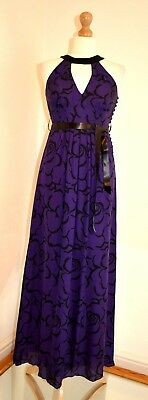 Hobbs Limited Edition Floral Silk  Maxi Christmas Party Occasion Dress Uk 8 Vgc