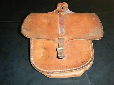 Antique Leather Base Ball/ Saddle Bag Impressed With Owner/Maker Monty Pearson