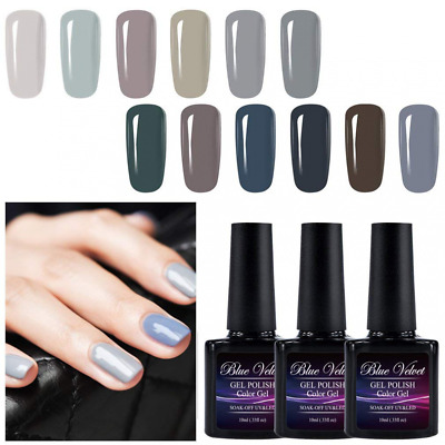 Gel Polish Set 12pcs Soak Off UV LED Nail Coat Manicure and Pedicure Kit 10ML US
