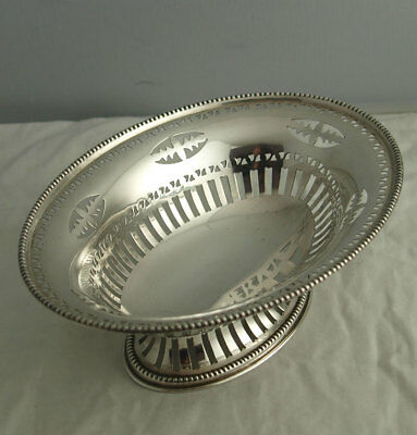 Pretty George V Solid Silver Basket - 113g - London 1932