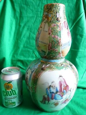 Very large Chinese Famille Rose Double Gourd Vase. 19th Century - RARE